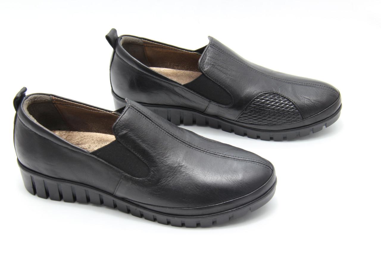 Туфлі жіночі на широку ногу Izderi olga-5-siyah