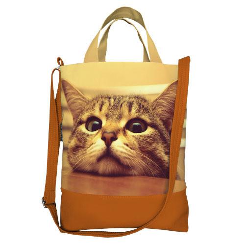 Городская сумка City Грустный котик (SCB_14A065_BR)
