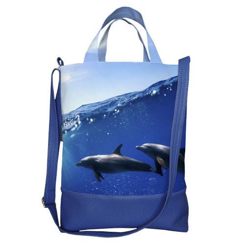 Городская сумка City Дельфины (SCB_14A089_SI)