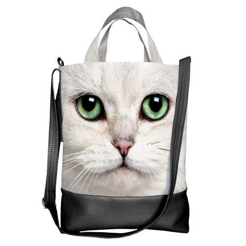Городская сумка City Белая кошка (SCB_14A144_BL)