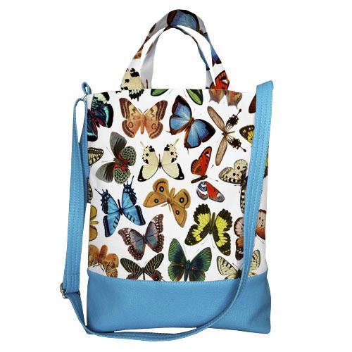 Городская сумка City Бабочки разноцветные (SCB_15M012_GOL)