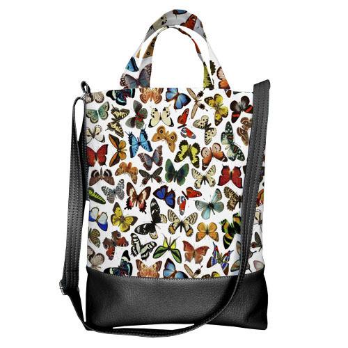 Городская сумка City Бабочки разноцветные (SCB_15M033_BL)