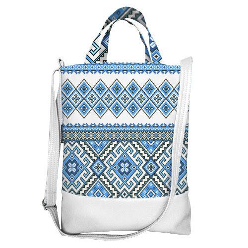 Городская сумка City Украинский орнамент (SCB_15UKR007_WH)