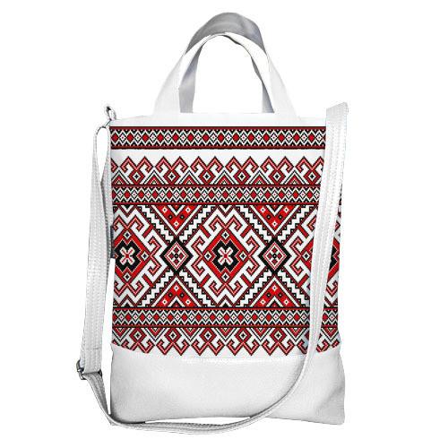 Городская сумка City Украинский орнамент (SCB_15UKR009_WH)