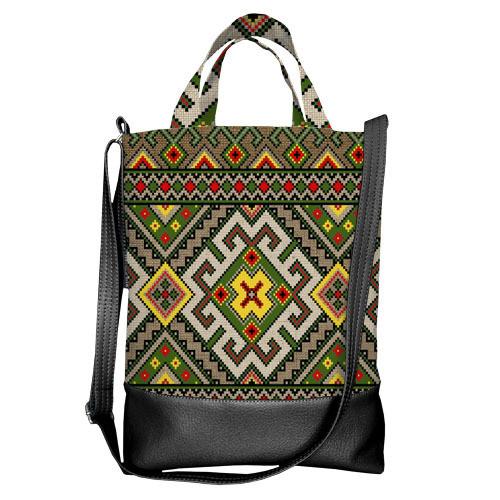 Городская сумка City Украинский орнамент (SCB_15UKR027_BL)