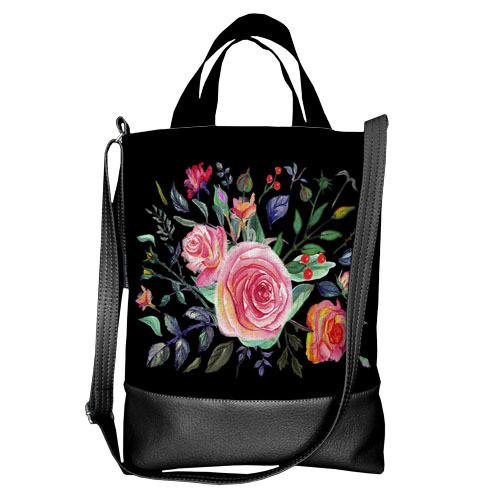 Городская сумка City Цветы (SCB_16A057_BL)