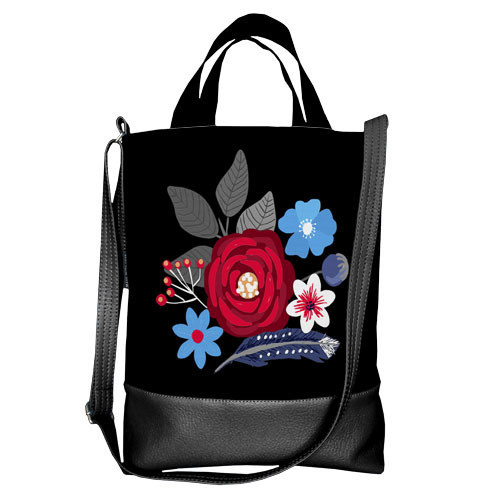 Городская сумка City Цветы (SCB_16A060_BL)