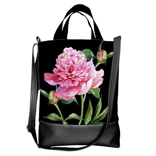 Городская сумка City Цветок (SCB_CLF002_BL)