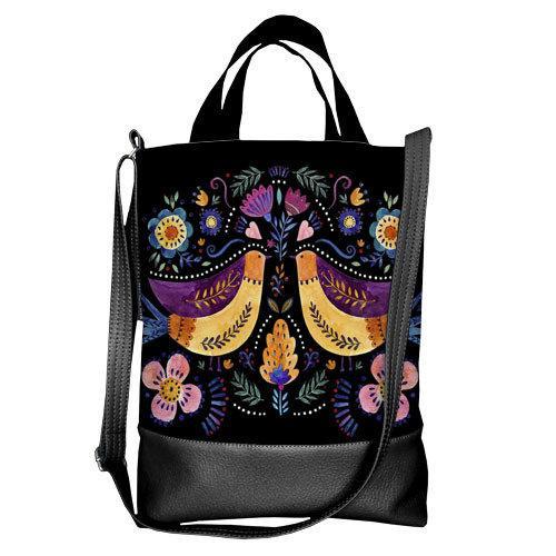 Городская сумка City Птички (SCB_FFL003_BL)