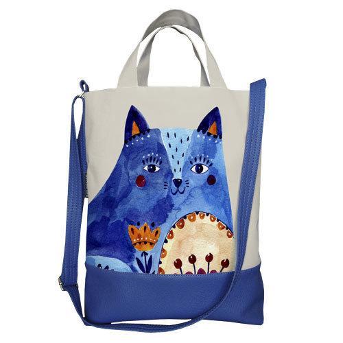 Городская сумка City Синий кот (SCB_FFL015_SI)