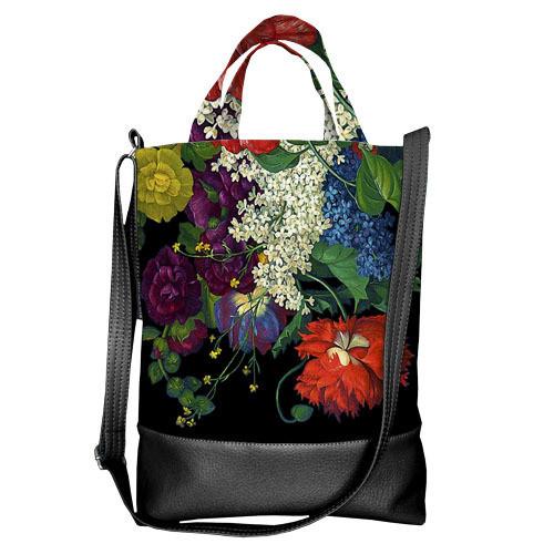 Городская сумка City Цветочное настроение (SCB_ILI001_BL)