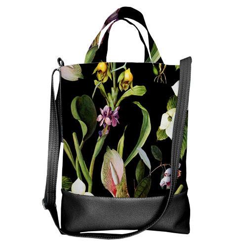 Городская сумка City Цветочное настроение (SCB_ILI007_BL)