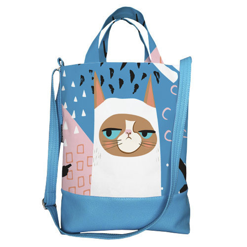 Городская сумка City Кот (SCB_ILI013_GOL)