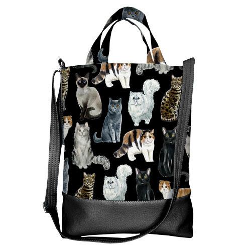 Городская сумка City Коты (SCB_LP009_BL)