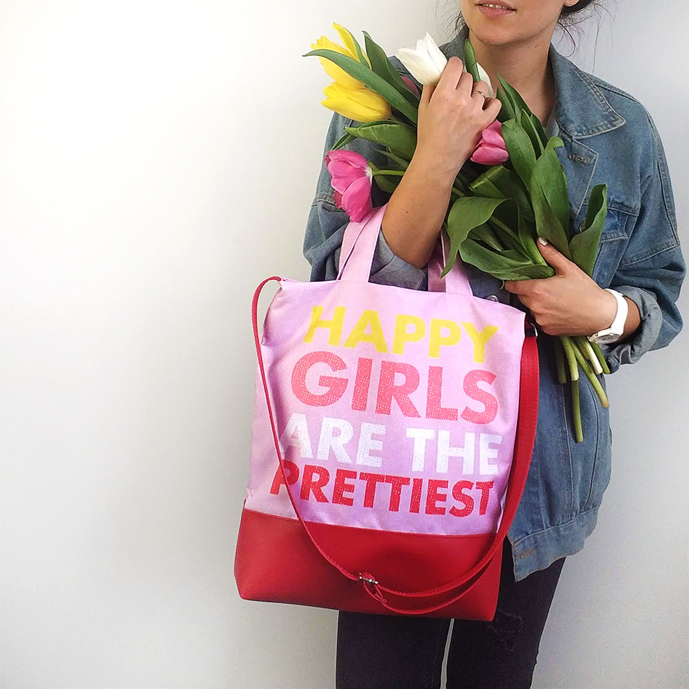 Городская сумка City Happy girls are the prettiest (SCB_LP015_KR)