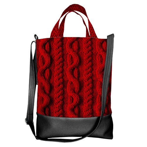 Городская сумка City Красная вязка (SCB_NG075_BL)