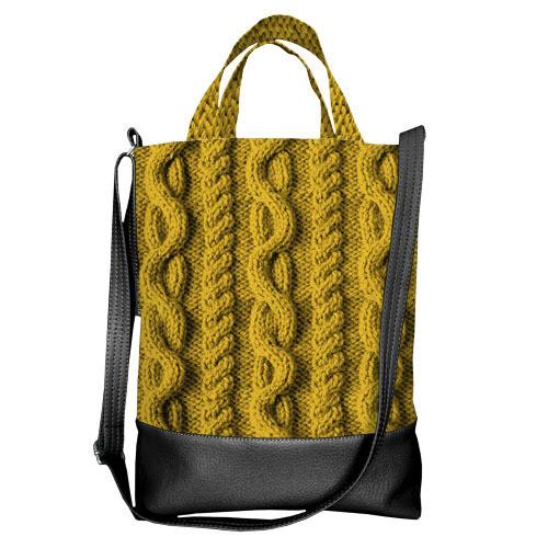 Городская сумка City Желтая вязка (SCB_NG076_BL)