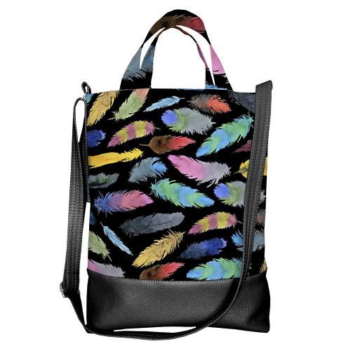 Городская сумка City Разноцветные перья (SCB_TFL031_BL)