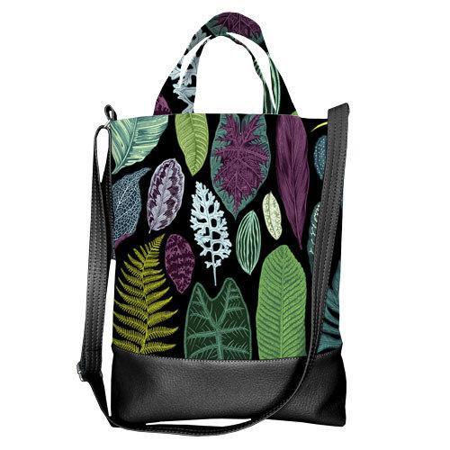 Городская сумка City Тропические листья (SCB_TRO021_BL)
