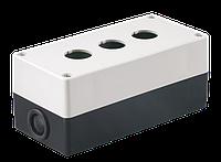 Корпус поста КП103 для кнопок управления 3 места белый, ИЕК [BKP10-3-K01]