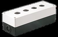 Корпус поста КП104 для кнопок управления 4 места белый, ИЕК [BKP10-4-K01]
