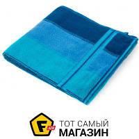 Полотенце Речицкий Текстиль Волна 68x140см, синий (4с02.041) душевое (банное)