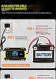 Импульсное зарядное устройство  (12V 8A / 24V 4A) для легковых и грузовых авто с функцией восстановления АКБ., фото 9