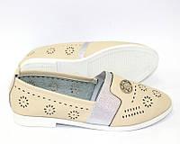 Женские летние туфли с перфорацией, фото 1