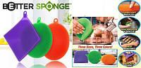 Набор универсальных силиконовых щеток губок 3 шт Better Sponge