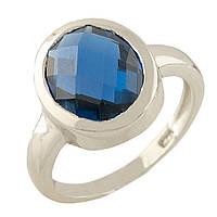 Серебряное кольцо GS с топазом nano Лондон Блю (1315392) 17.5 размер