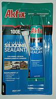 Силиконовый герметик Akfix 100e 50 ml (в тюбике).