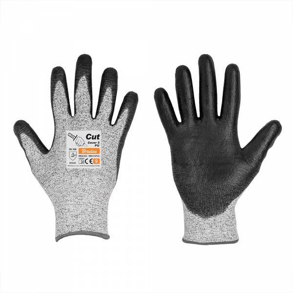 Перчатки с защитой от порезов, CUT COVER 5, полиуретан, размер 7, RWCC5PU7