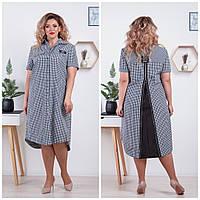 Летнее платье рубашка для полных женщин батал, Украина Размеры: 52-54,56-58,60-62,64-66
