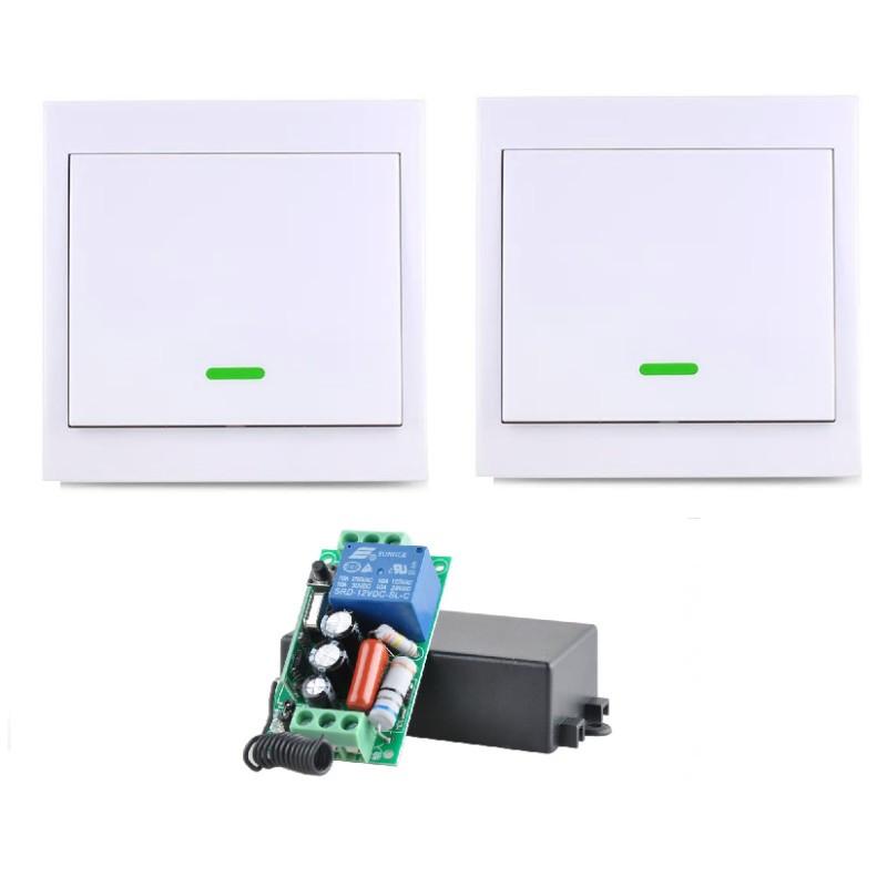 Прохідний бездротовий вимикач INTED 220В одноклавішний