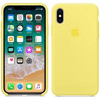 Оригинальный силиконовый чехол для iPhone Х/XS (Желтый)