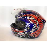 """Шлем """"трансформер"""" ,с очками, FGN ,размер L(57,58), синий-красный"""