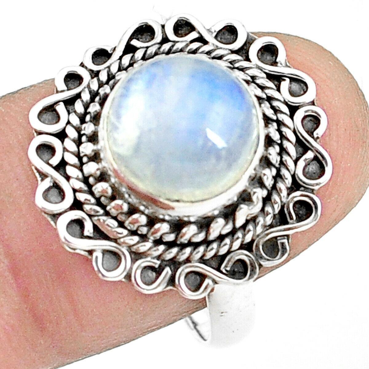 Срібне кільце з місячним каменем адуляр, 2293КЦЛ