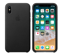 Оригинальный силиконовый чехол для iPhone Х (Черный)