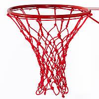Сетка баскетбольная «СТАНДАРТ», шнур диаметром 4,5 мм. (стандартная) красная для Республики Беларусь, фото 1