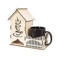 Подставка для чайных пакетиков с чашкой-хамелеон - Чайный домик