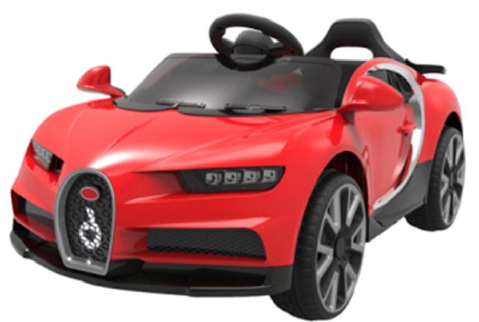Детский электромобиль T-7638 EVA WHITE, Bugatti, красный