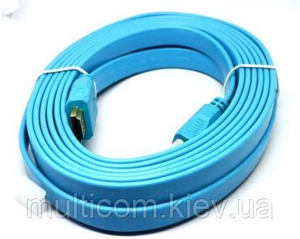 05-07-103. Шнур HDMI (штекер - штекер), version 1.4, плоский, в блистере, 5м
