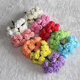 Бутоньерка с цветами  на руку гостям алая (разные цвета), фото 6