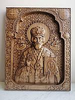 Икона деревянная Николай Чудотворец