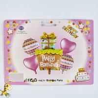Набор фольгированных шаров День Рождения C 31799 (300)