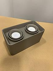 Серый светильник с направлением света, фото 2