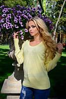 Женский  свитерок.Цвет- лимон (42-48-один универсальный)