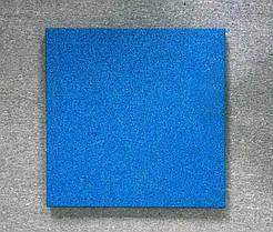 Резиновая плитка Стандарт 20 мм голубая