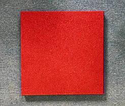Резиновая плитка Стандарт 30 мм красная