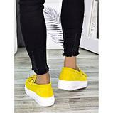 Женские туфли лоферы замша желтого цвета 7274-28, фото 2
